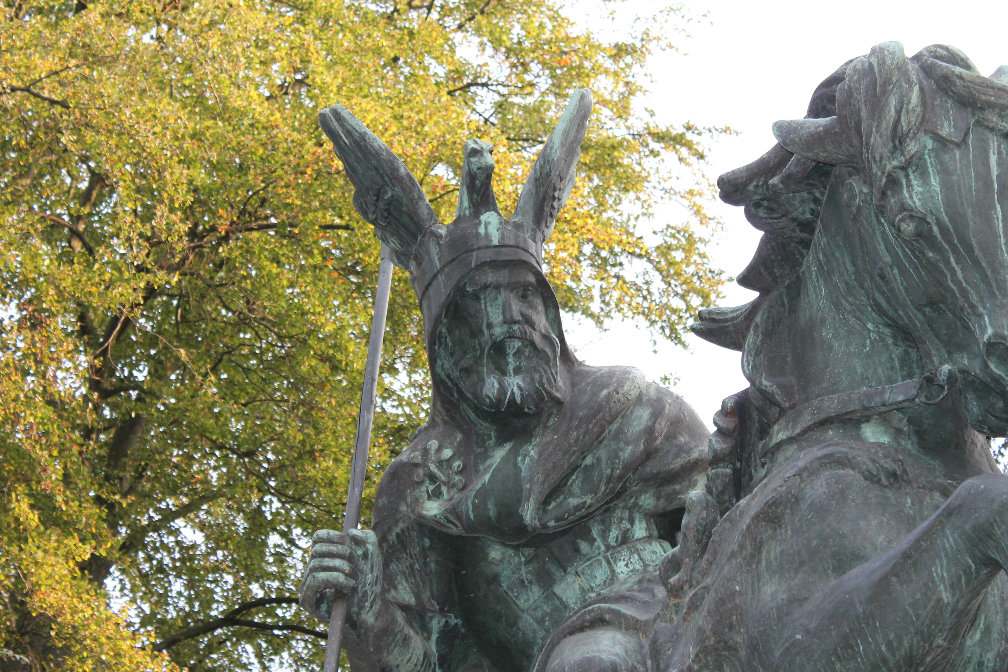 Detail of statue in Herford, Germany.