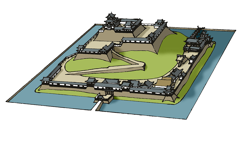 [Out-Mission] Landsitz Ishinawa Hirayamajiro_Japanese_Castle.