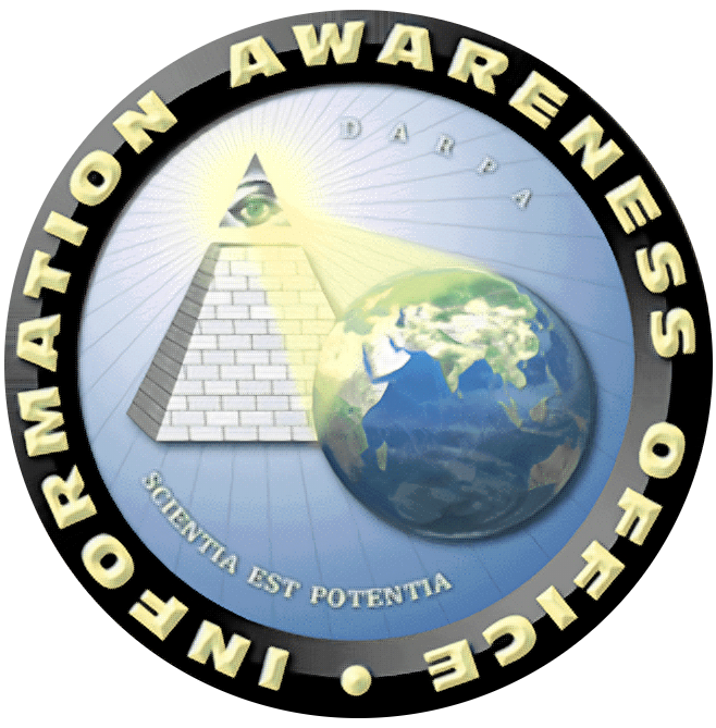 Emblema oficial de la Information Awareness Office estadounidense.
