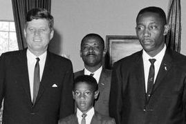 Evers (far right) with President John F. Kennedy, June 1963