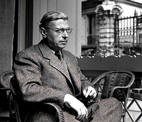 Depiction of Jean-Paul Sartre