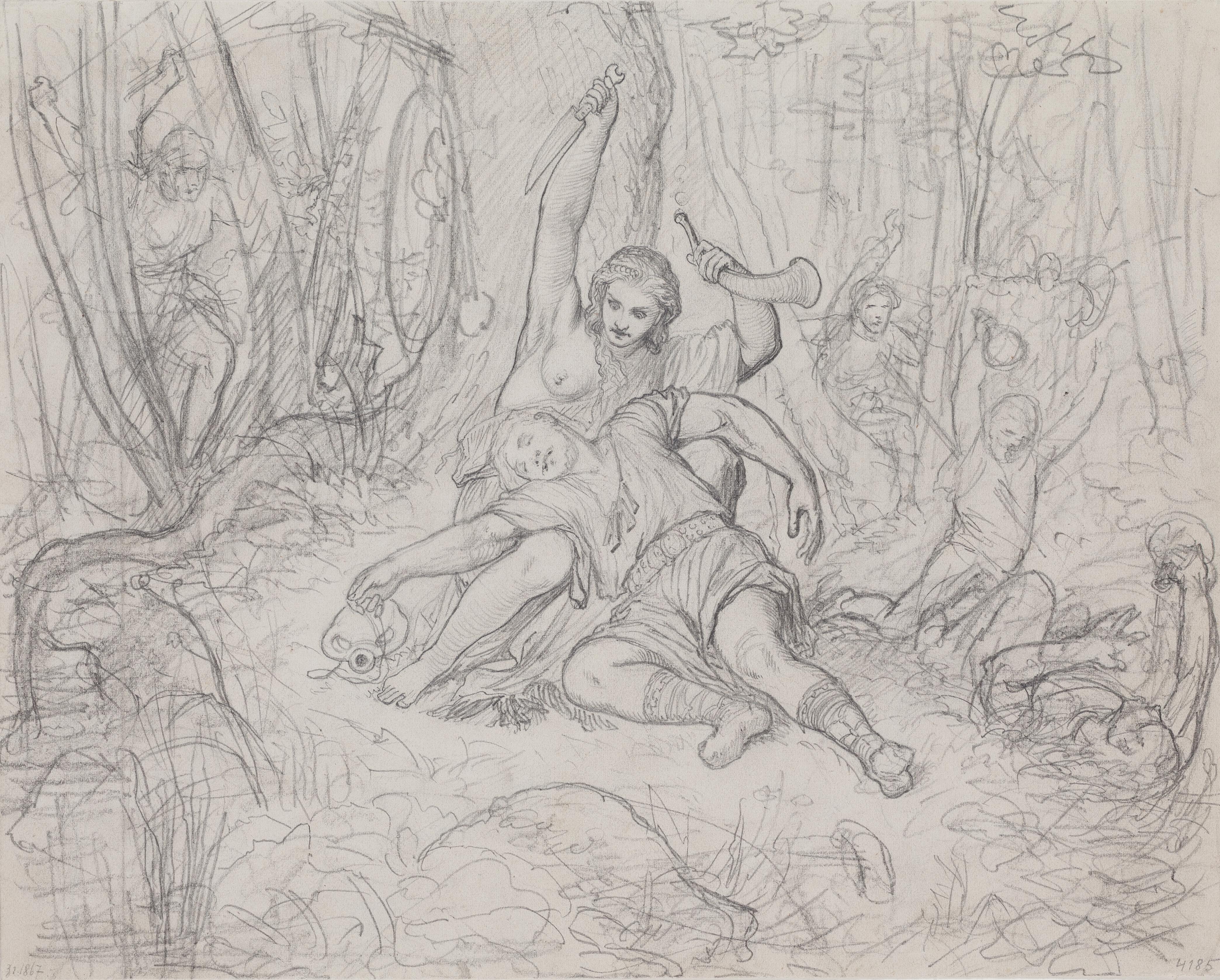 File Karel Svoboda Sarka A Ctirad Pred 1868 Kresba Tuzkou 202 X