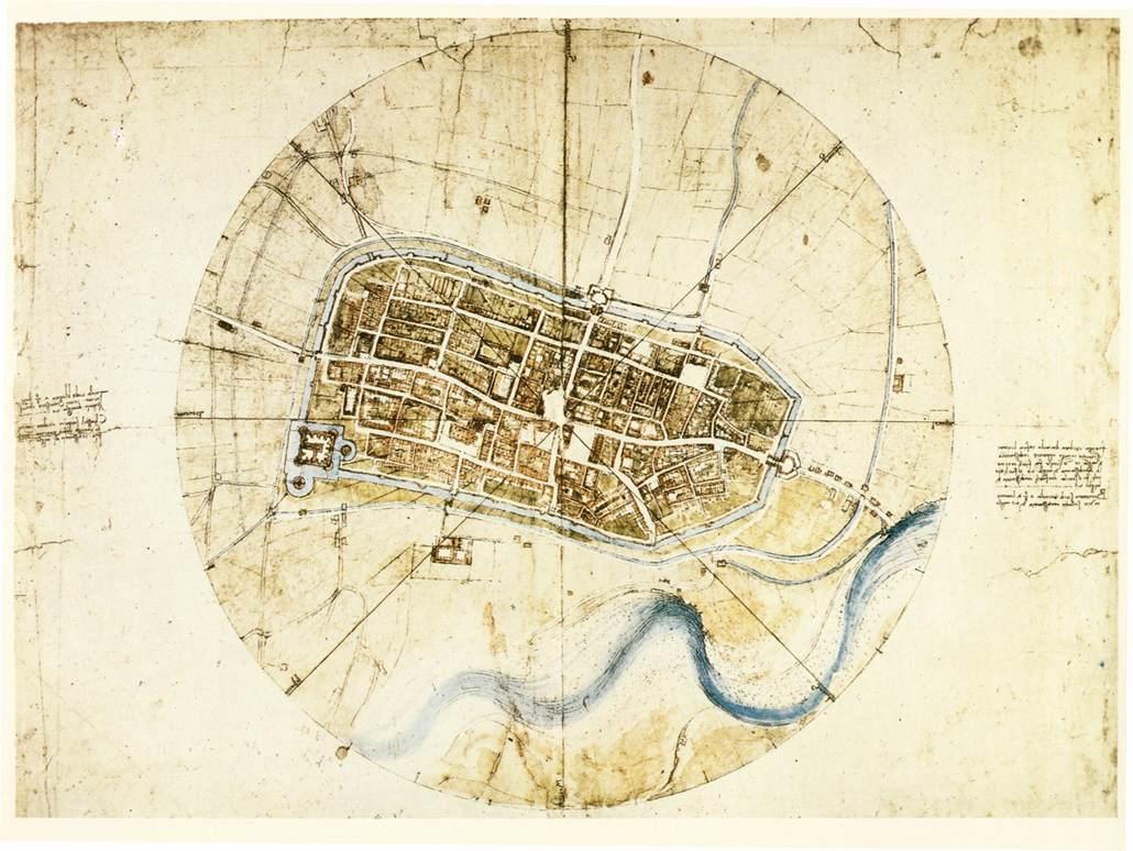 File leonardo da vinci town plan of - Italian garden design ideas to make exquisite roman era garden ...