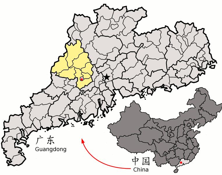 FileLocation Of Zhaoqing Within Guangdong Chinapng Wikimedia - Zhaoqing map