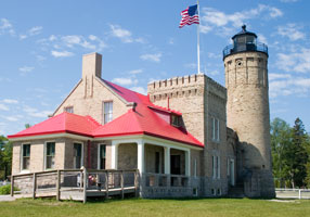 Old Mackinac Point Light lighthouse in Michigan, United States