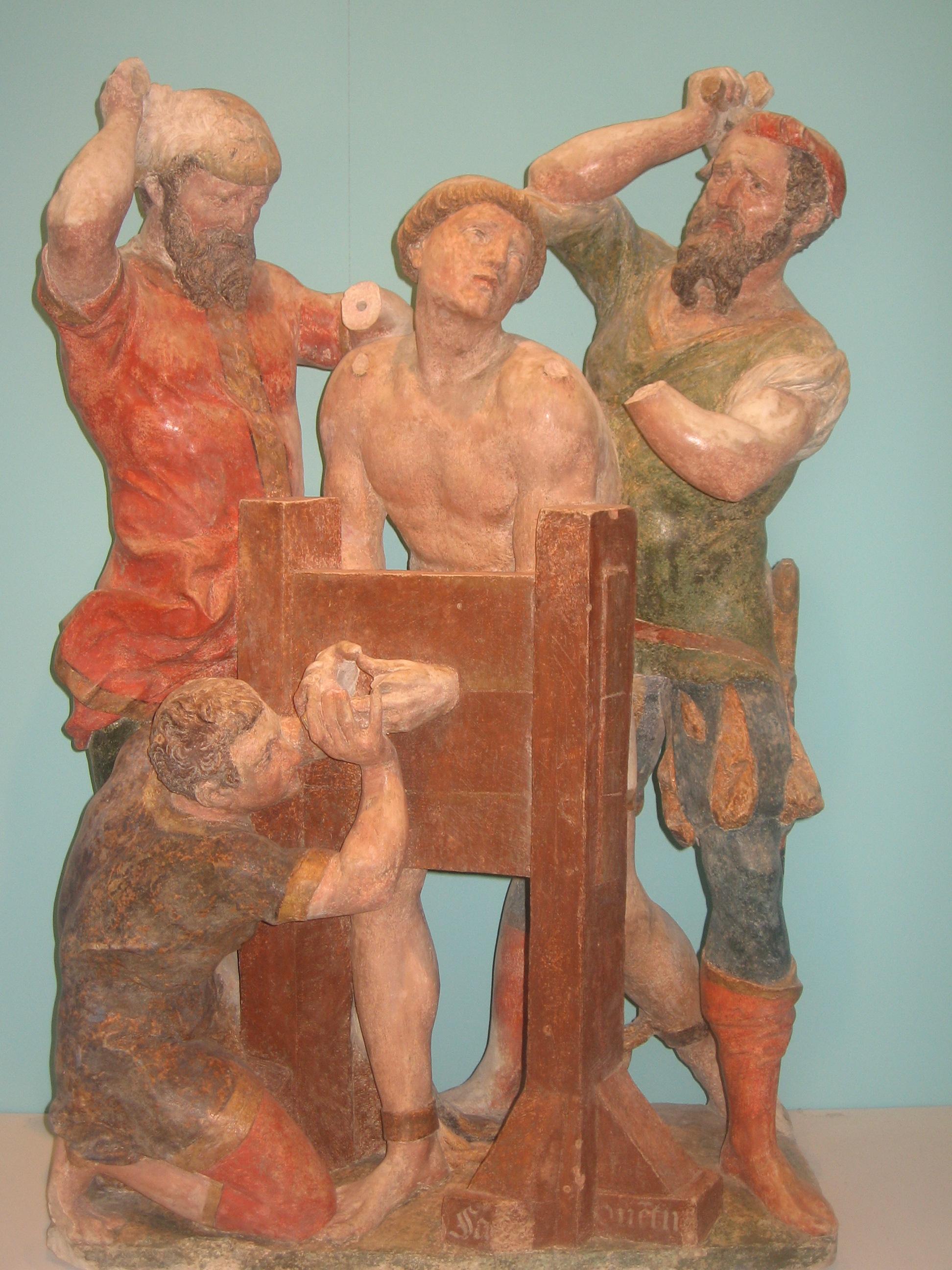 Martyre de Saint Quentin dans immagini sacre