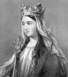 English: Matilda of Flanders, wife of William ...