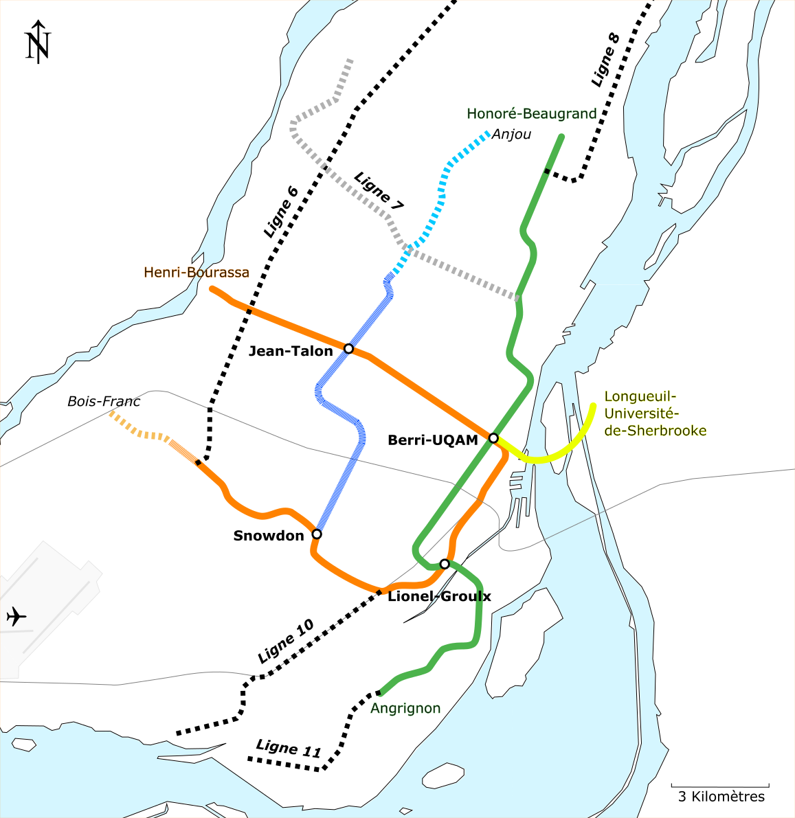 Montreal Subway Map Printable.White Line Montreal Metro Wikipedia