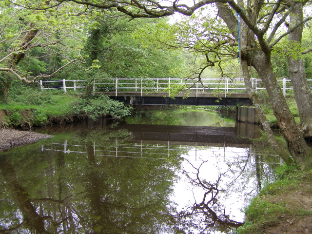 Mill Lane bridge on the Lymington River, New Forest - geograph.org.uk - 170816