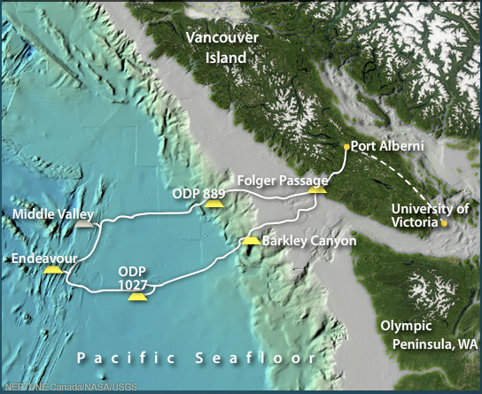 NEPTUNE Canada Overview Map