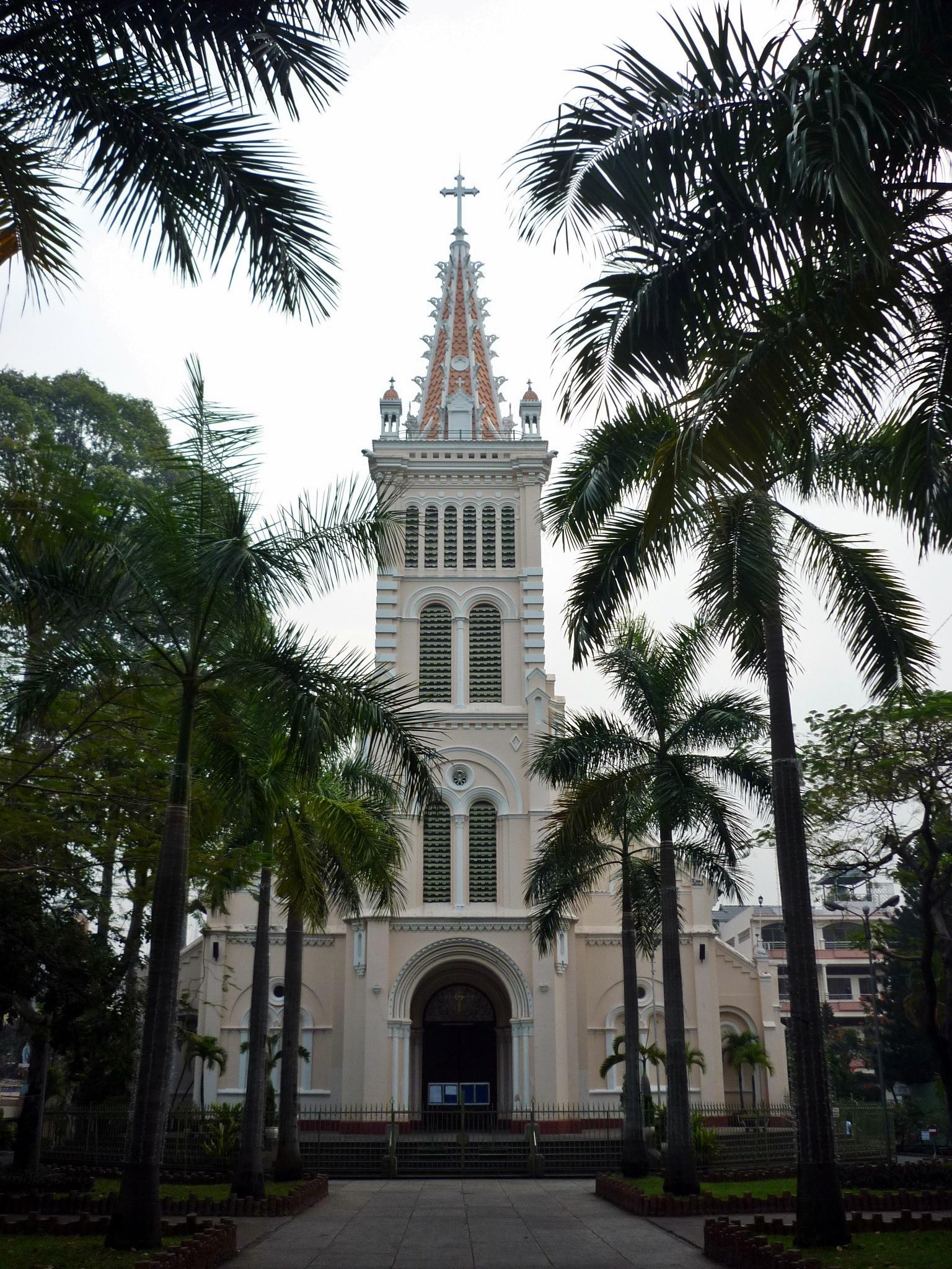 Image result for nhà thờ chợ quán