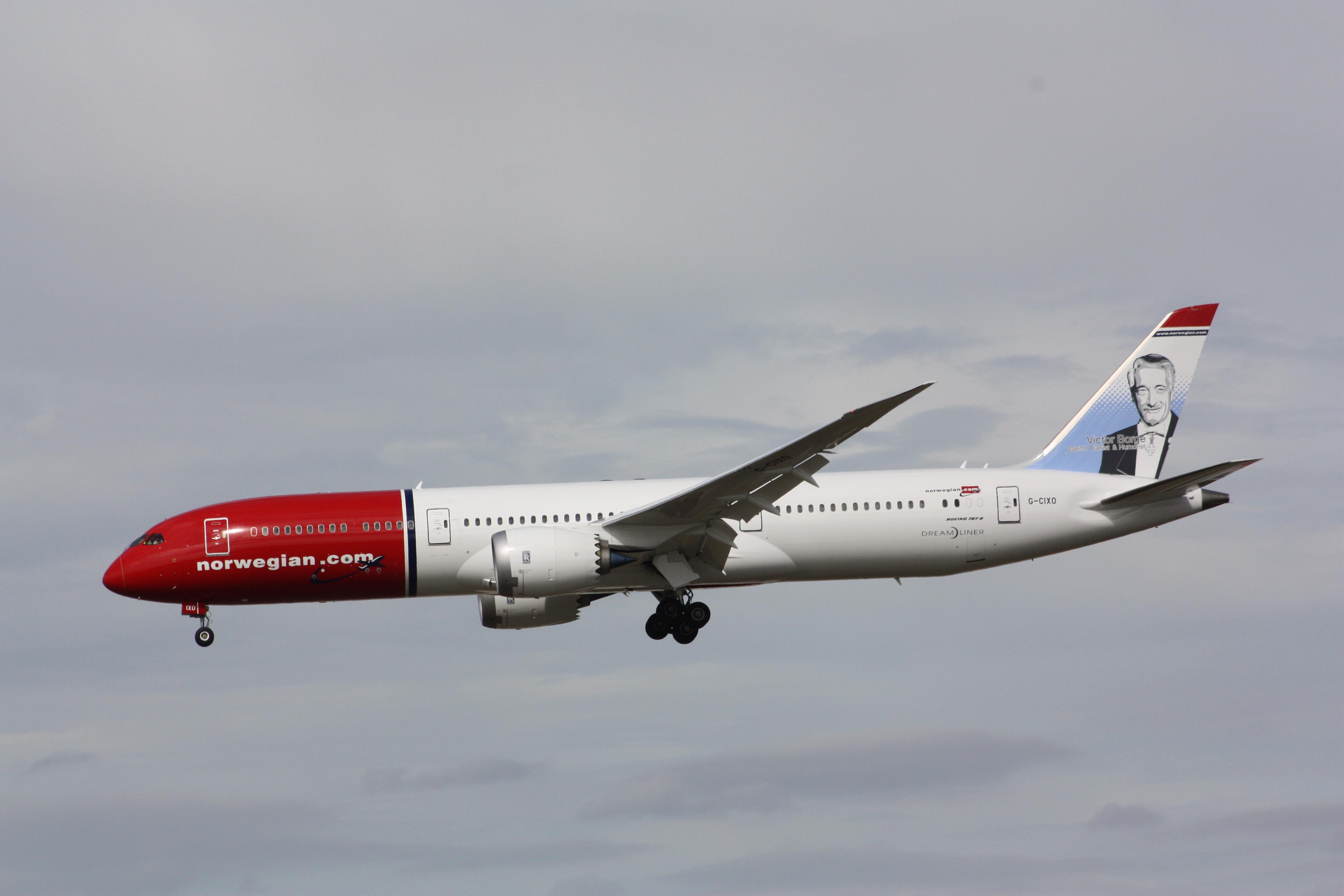 Bildresultat för norwegian boeing 787