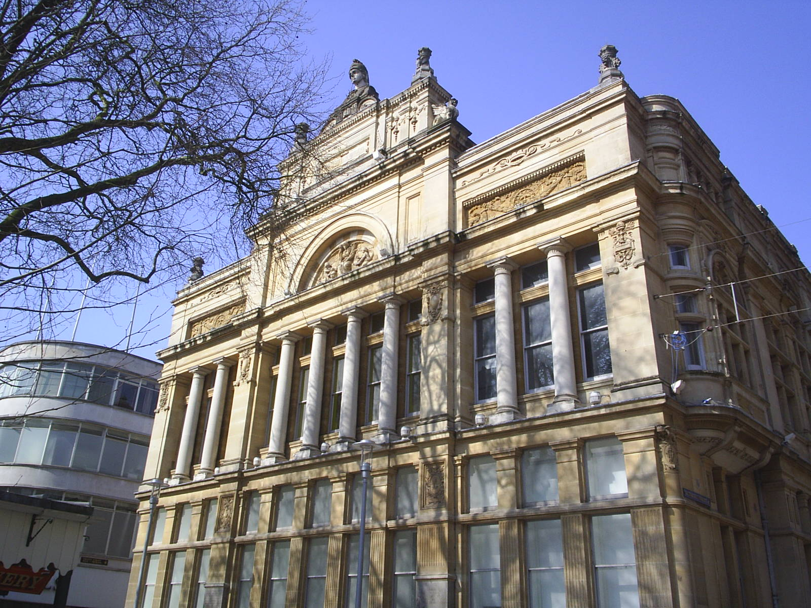 The south face of Cardiff's Old Library