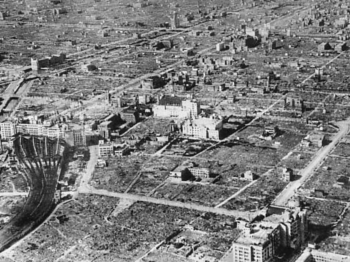 Osaka after the 1945 air raid