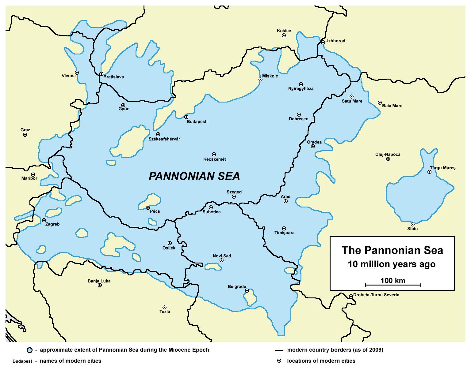 Miocene World Map.Pannonian Sea Wikipedia