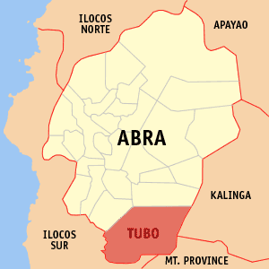 Map of Abra showing the location of Tubo
