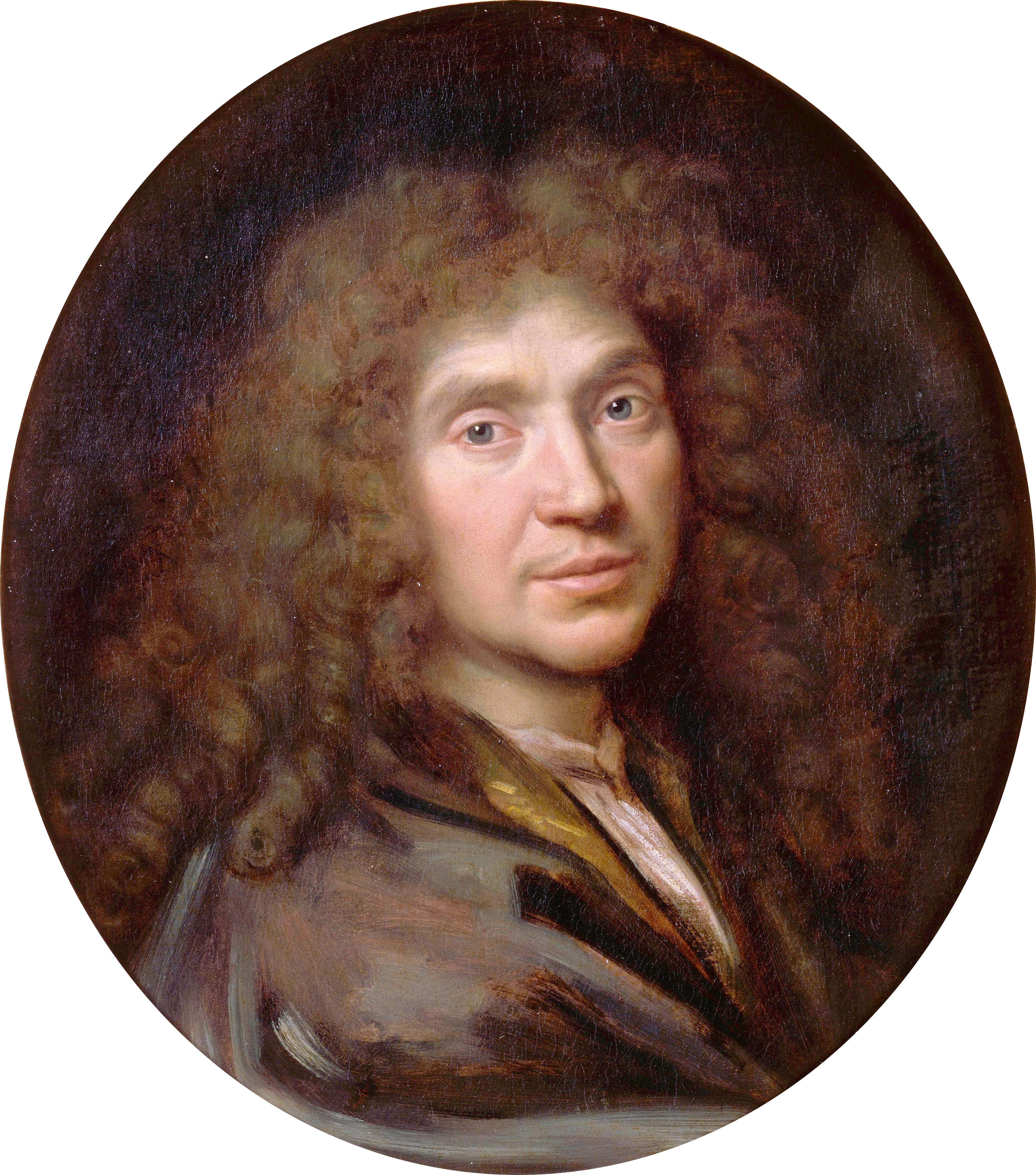 Portrait of Molière by [[Pierre Mignard]] (ca. 1658)