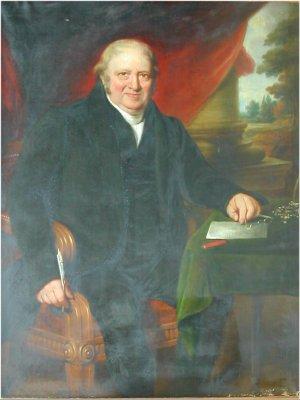Portrait of Rev. William Winterbotham, painted by [[John Ponsford]] of Devon, Summer 1828.
