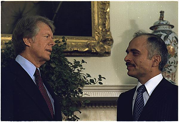 File:President Carter with king Hussein of Jordan 1977.jpg