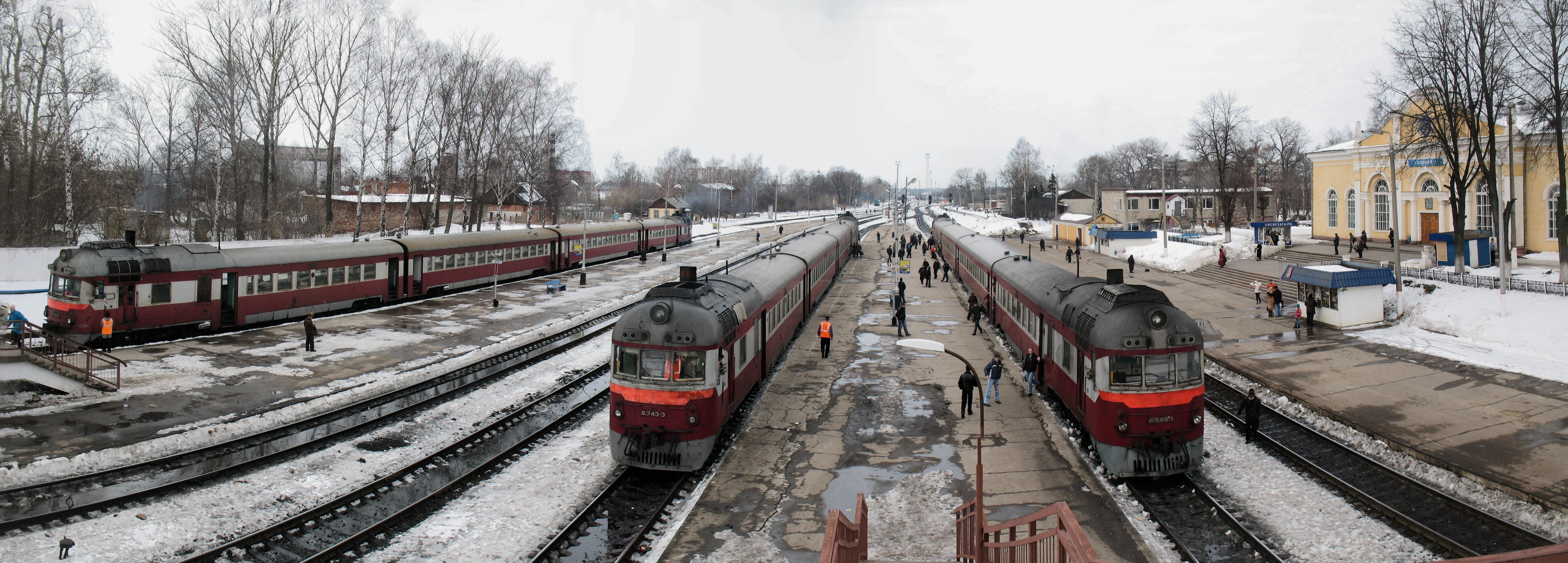 RZD D1 class DMU at Uzlovaya station (17267126274).jpg