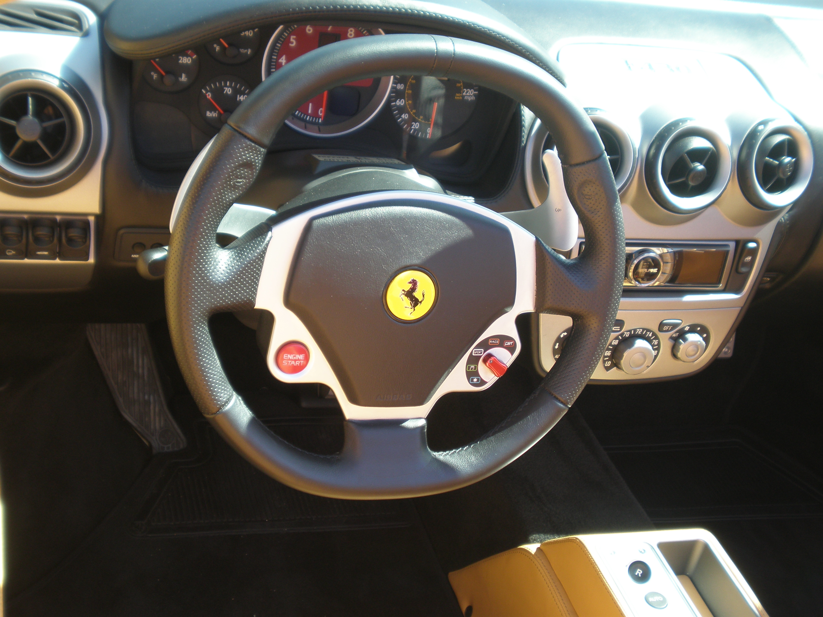 file red ferrari f430 spider steering wheel jpg wikimedia commons. Cars Review. Best American Auto & Cars Review