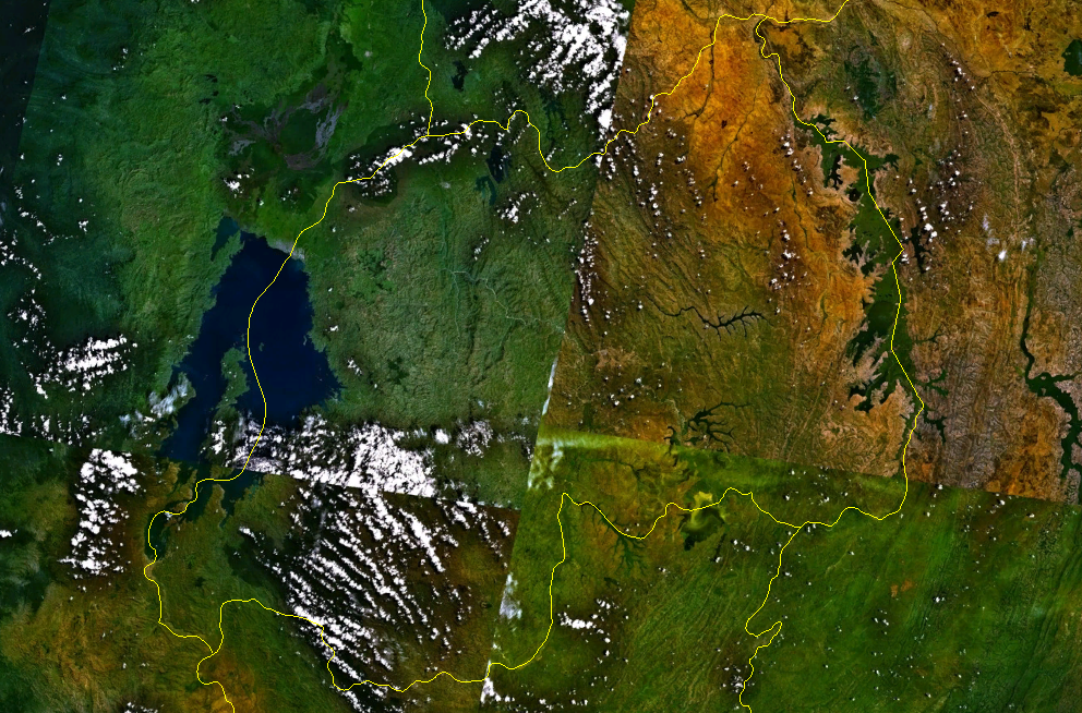 Rwanda satellite mappng Atlas of Rwanda