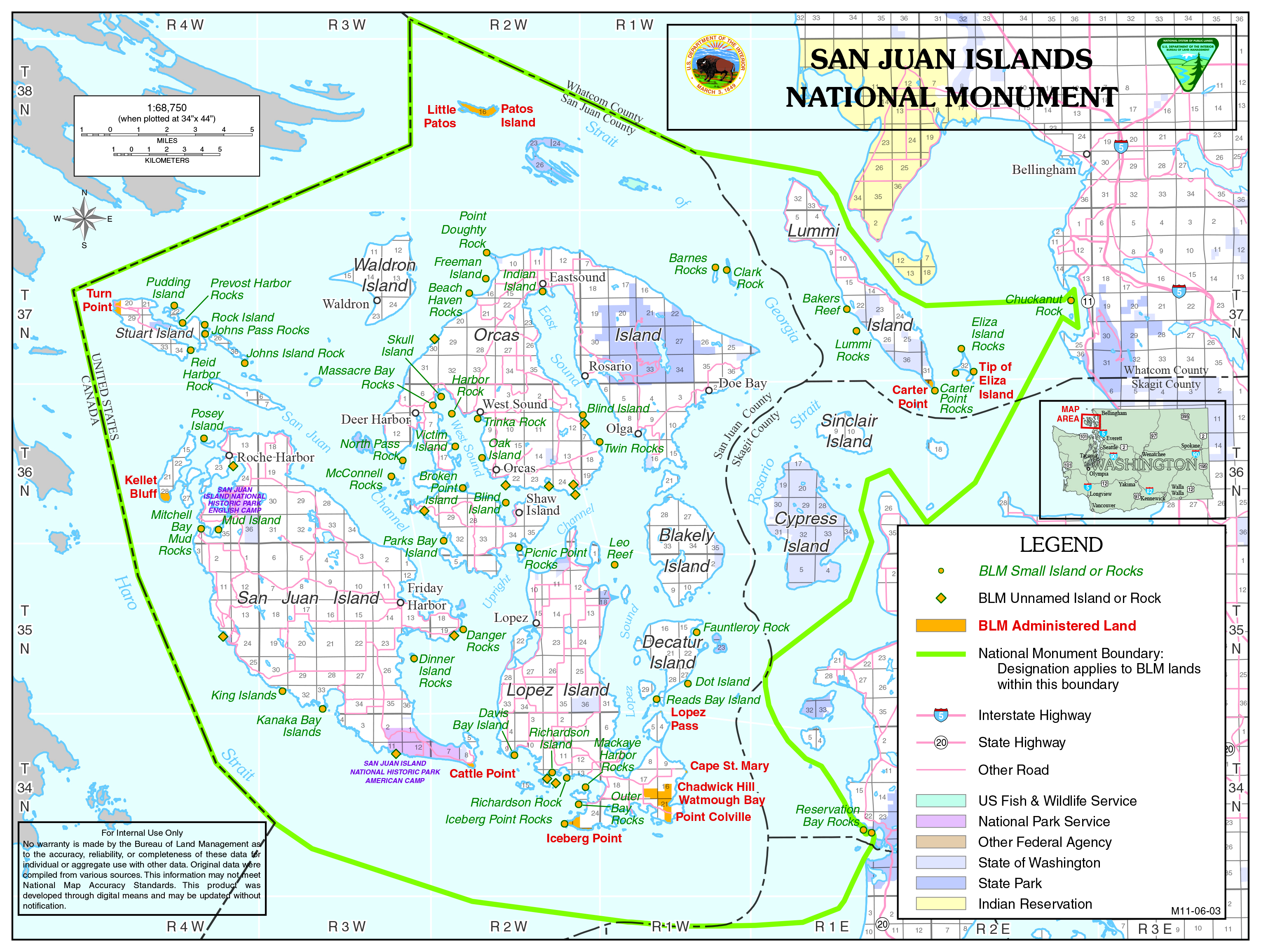 Datei:San Juan Islands National Monument map (33316562841 ...