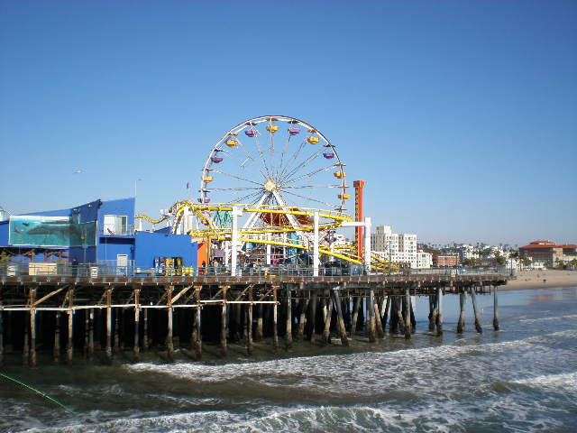 File:Santa Monica Beach Pier (5).jpg