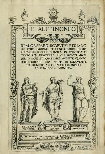 Title page of L'Alitinonfo by Gasparo Scaruffi