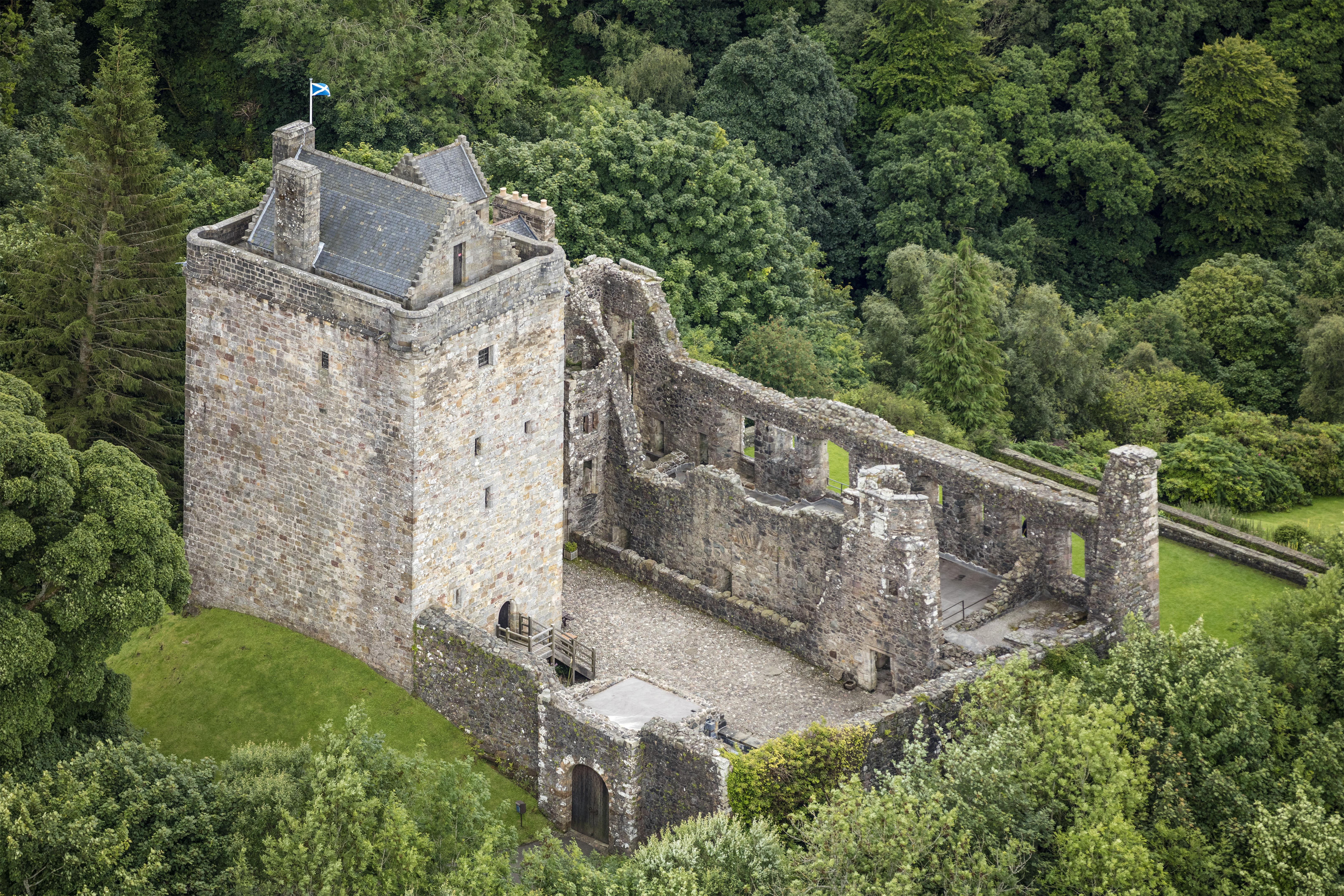 filescotland 2016 aerial dollar castle campbelljpg - Open Castle 2016