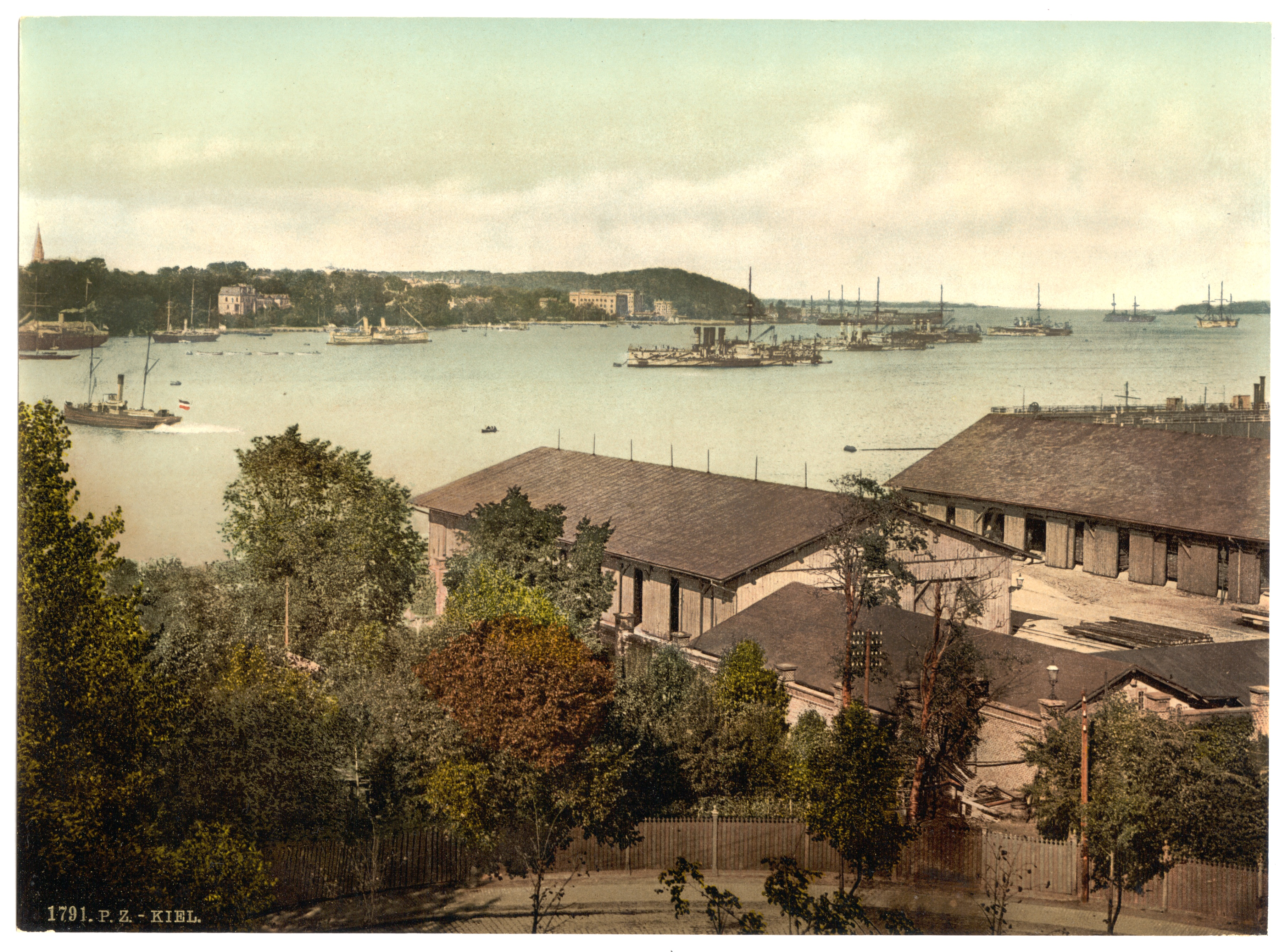 File Showing War Ships The Harbor Kiel Schleswig Holstein
