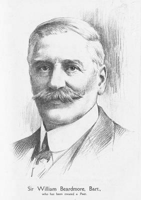 Tegning av William Beardmore, 1921