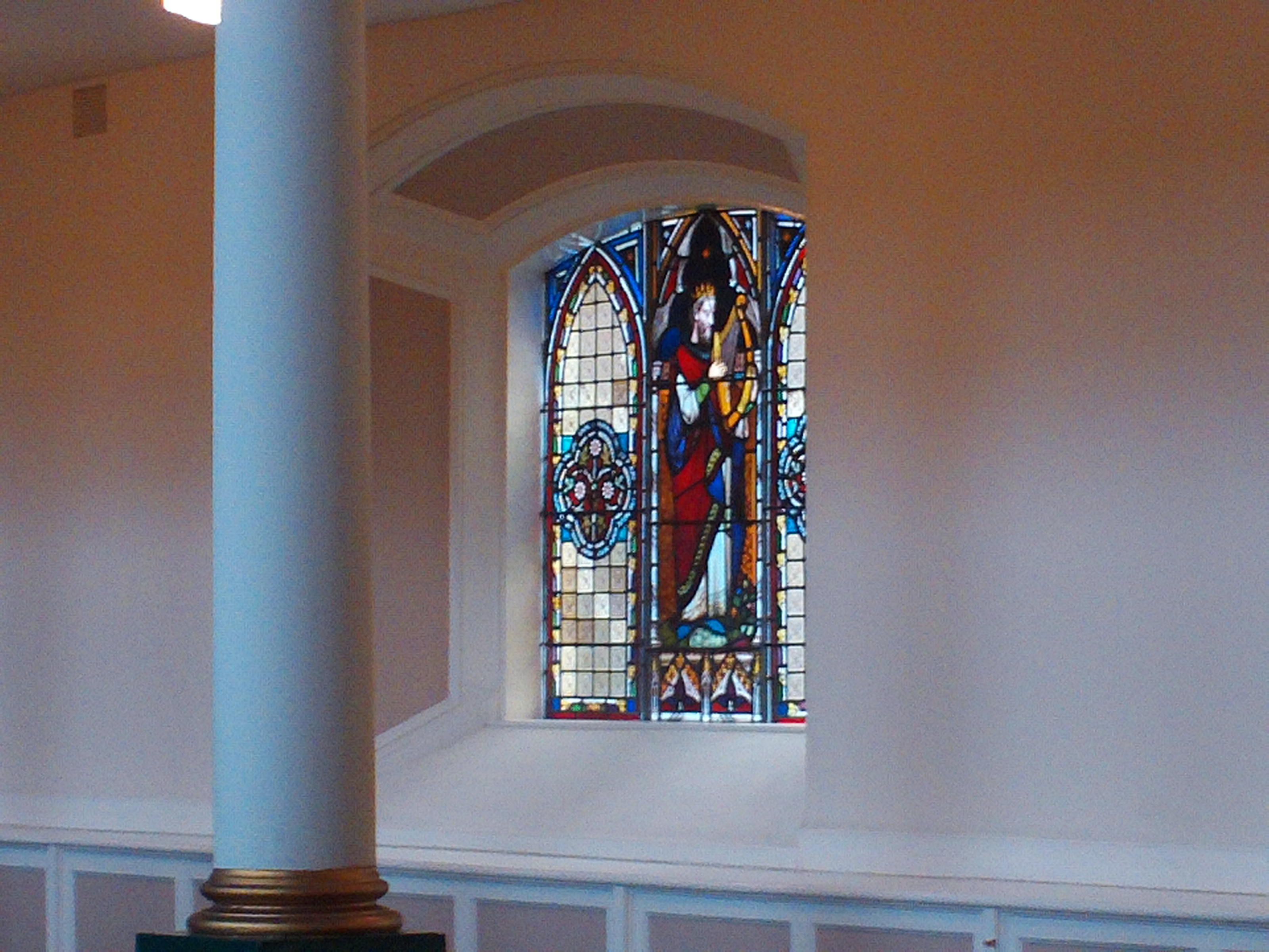 File Small Stained Gl Window St George S Belfast U K