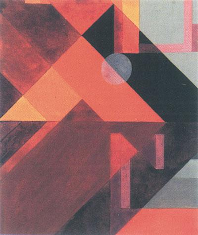 Sophie Taeuber-Arp Kompozycja z przekątnymi i okręgiem, 1916