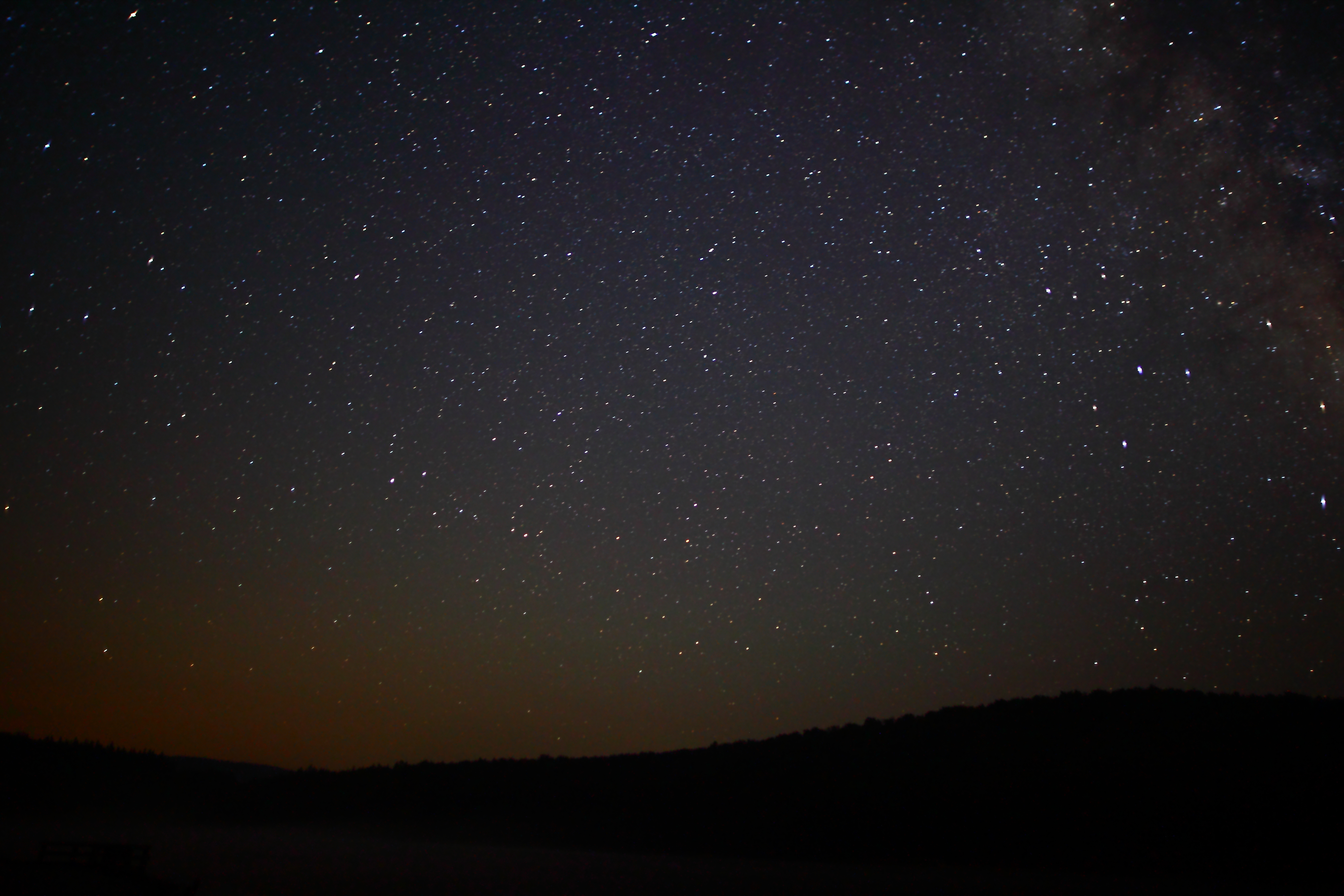 Lake west virginia night sky stars west virginia forestwander