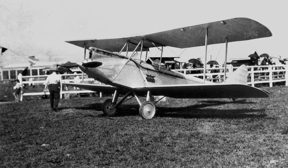 file statelibqld 1 192335 avro avian biplane in a field 1920 1930