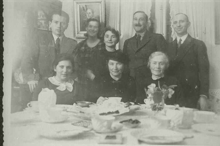 Description:  Stefan Zweig and Friderike Zweig with unidentified others in the home of Henry and Grete Joske; Vence, FranceCreator/Photographer: UnknownMedium:  Black and white photographic print   Date: 1937Repository: Leo Baeck Institute, 15 West 16th Street, New York, NY 10011 Call Number:  F 3762  Rights Information: No known copyright restrictions; may be subject to third party rights. For more copyright information, click here.See more information about this image and others at CJH Archives and Library Catalog. Digital images created by the Gruss Lipper Digital Laboratory at the Center for Jewish History