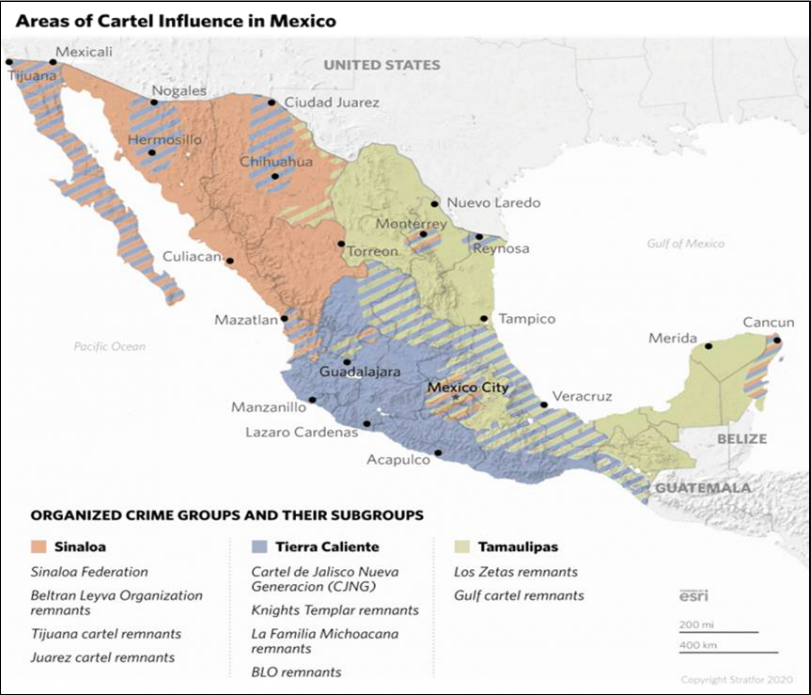 0/PDMCreative Commons Public Domain Mark 1.0falsefalse English The map indicates region of influence and origin of Mexico's TCOs, DTOs, or cartels.