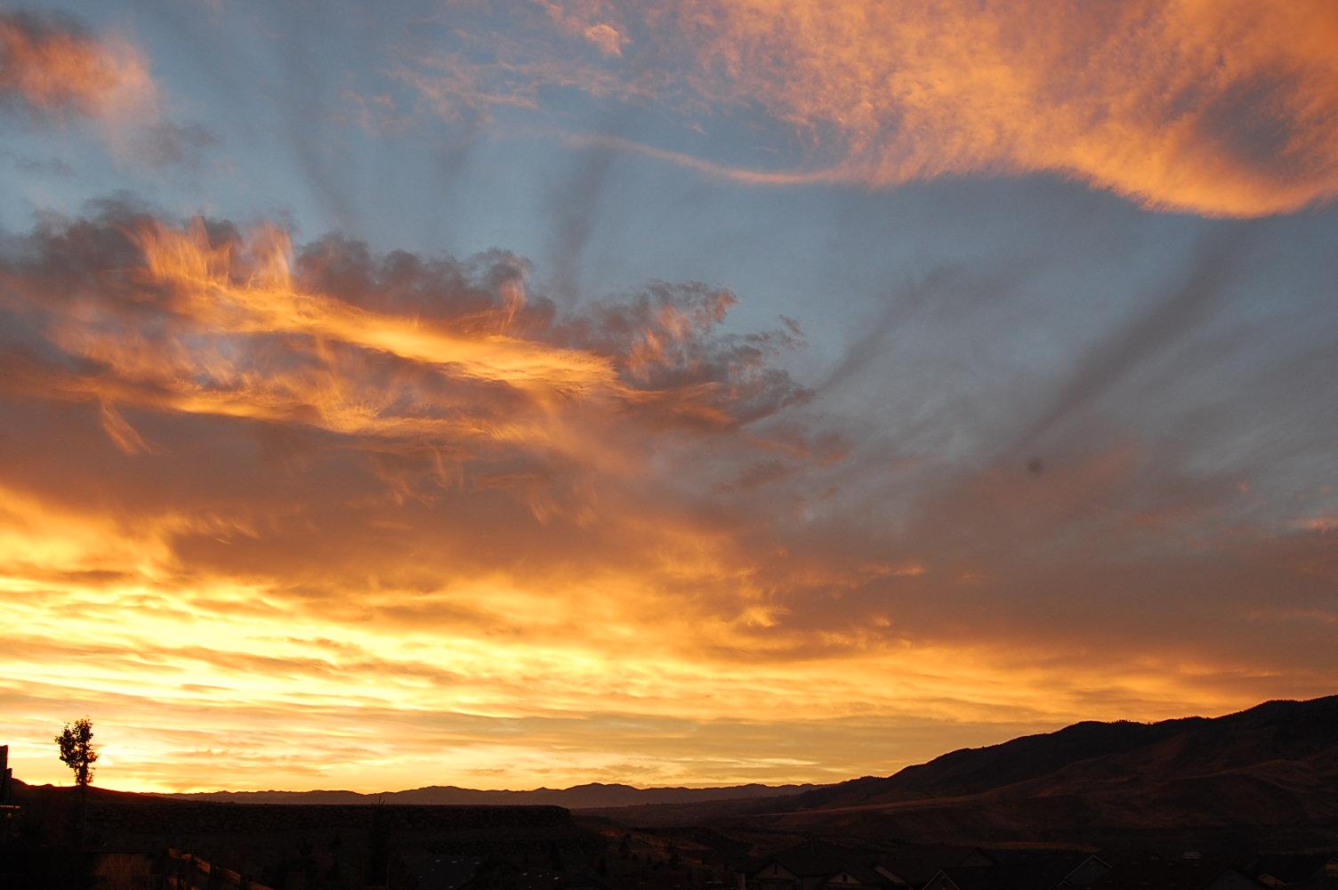Sunrise over Reno