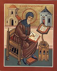 Symeon zwany Nowym Teologiem, czyli mającym podobny dar wyjaśniania tajemnic wiary co  sam Jan Ewangelista, zwany Teologiem. Tytuł ten tradycja nadała również innemu Ojcu Kościoła, Grzegorzowi z Nazjanzu.
