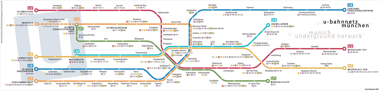 Metro Map Of U Bahn Plan München U Bahn Plan München