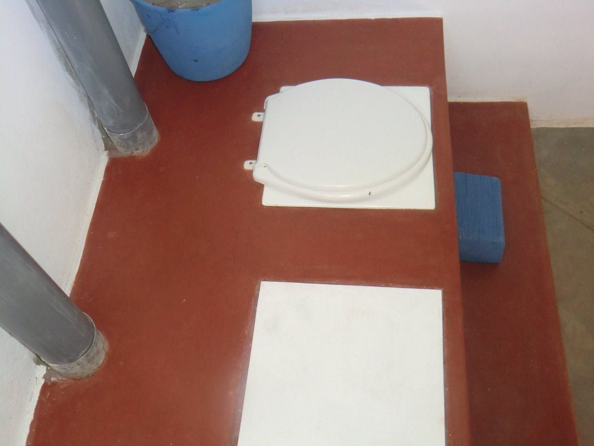 File:UDDT (bench-style), inside view. Unused vault has no toilet ...