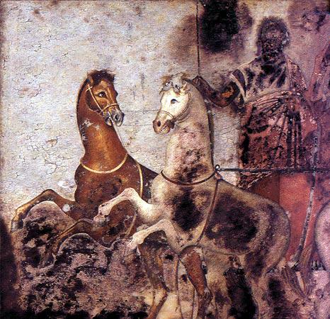 Archivo: Vergina tumba real - fresco.jpg