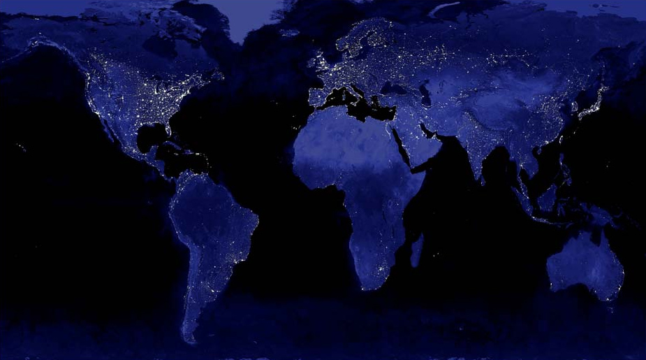 FileWorld Lights Widejpg Wikimedia Commons - World satellite map lights