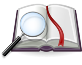 מילון עם זכוכית מגדלת