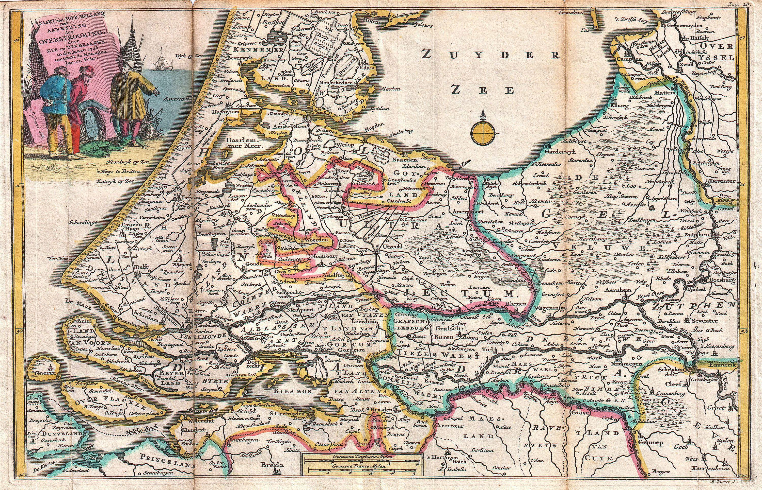 File1747 La Feuille Map of Holland  Geographicus  Holland