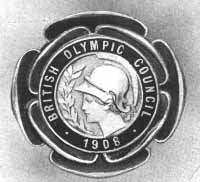 The medal of the 1908 British Olympic Council.