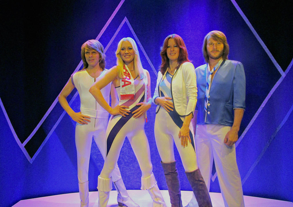 The real abba dolls in the abba museum as wax statues