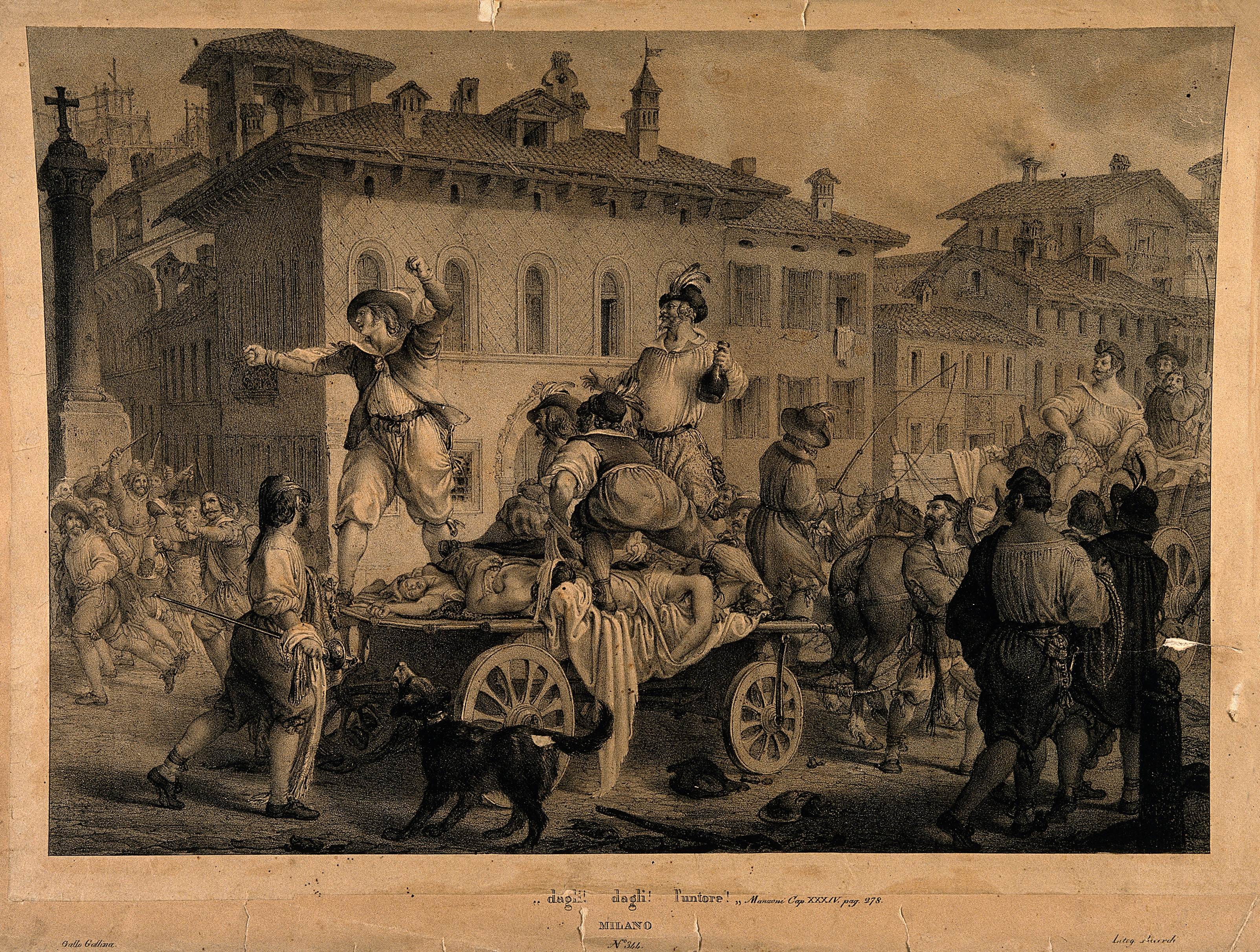 File:Accusing the anointers in the great plague of Milan in 1630; Wellcome  V0010581