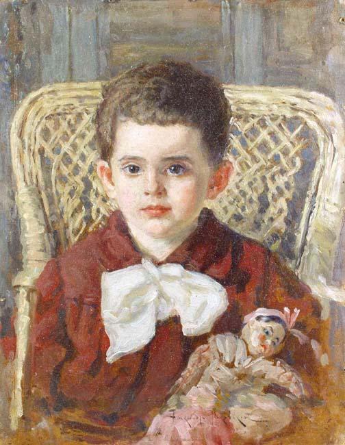 Alexander makovski boy with doll